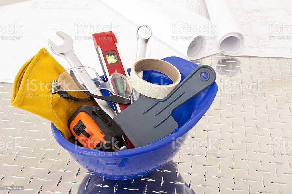 Herramientas de construcción en el trabajo - foto de stock
