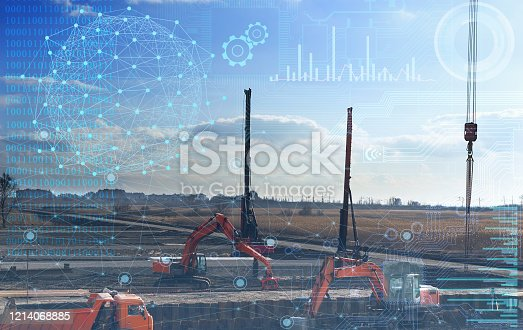 1136415363 istock photo construction work without human intervention, fully automatic production using artificial intelligence, future technology 1214068885