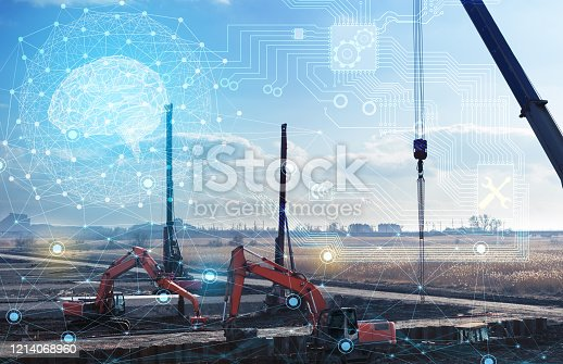 1136415363 istock photo construction work without human intervention, fully automatic production using artificial intelligence, future technology 1214068960