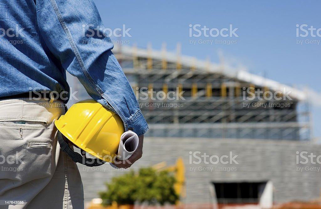 Construction Worker at Site royalty-free stock photo