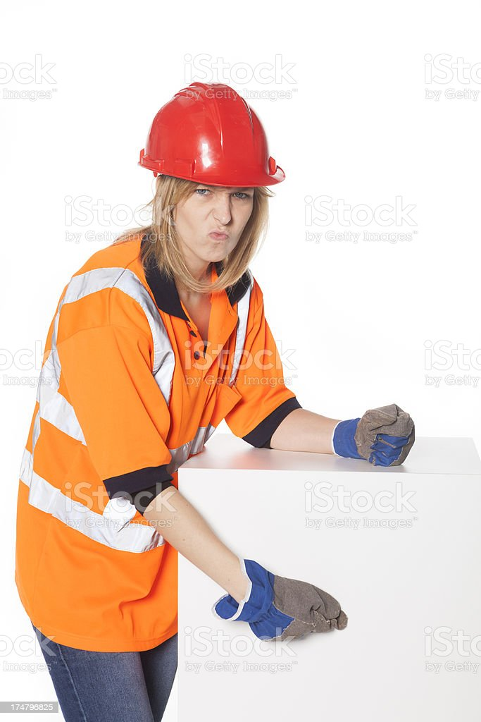 Construction Worker, copy space royalty-free stock photo