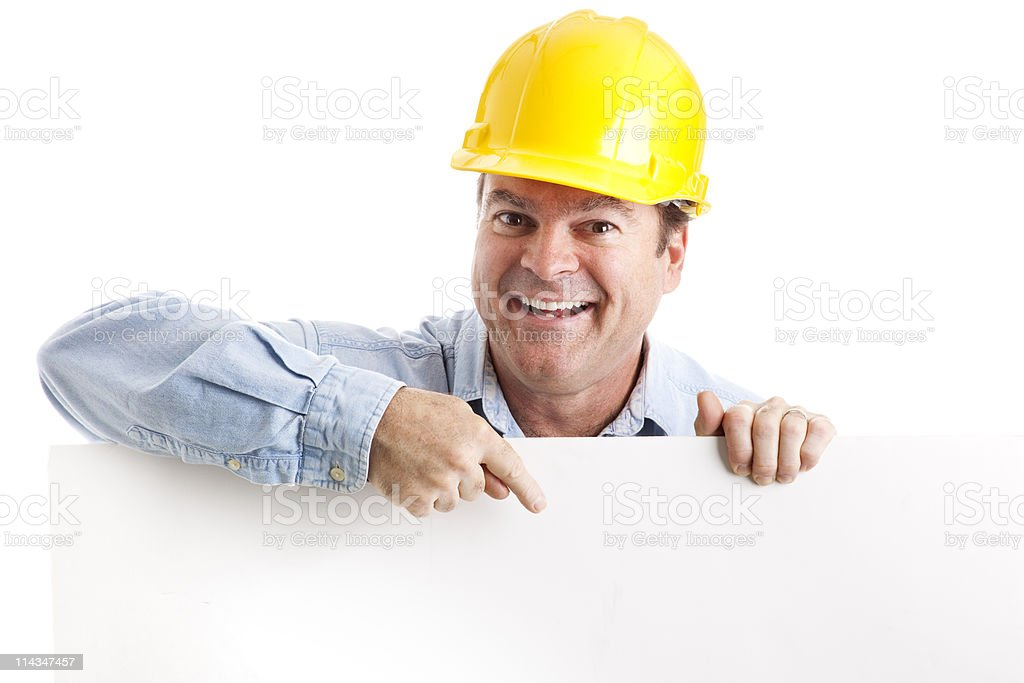 Construction Worker Design Element royalty-free stock photo