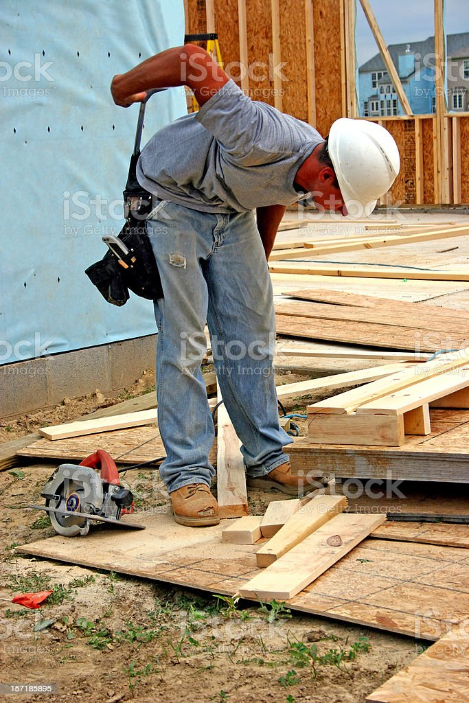 Construction Worker Fullbody stock photo