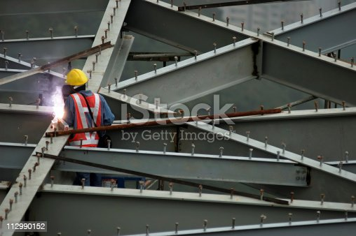 Construction worker in Hong Kong