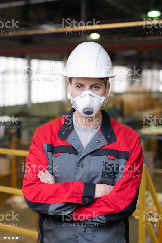 Bauarbeiter in Atemschutz - Lizenzfrei Arbeiten Stock-Foto
