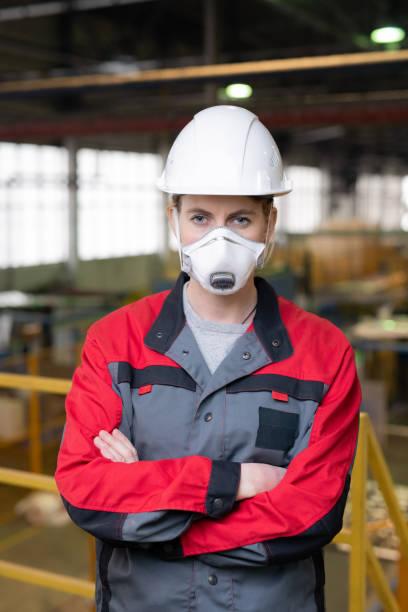 Bauarbeiter in Atemschutz – Foto