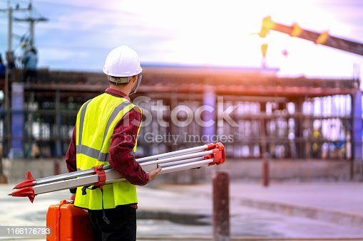 1166176793 istock photo Construction worker on building site. 1166176793