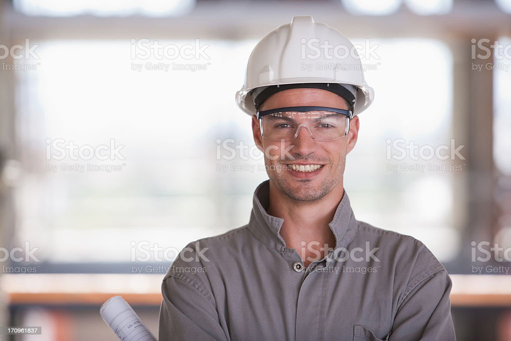 Bau Arbeiter auf der Baustelle – Foto
