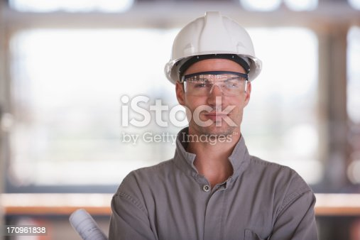 istock Construction worker on construction site 170961838