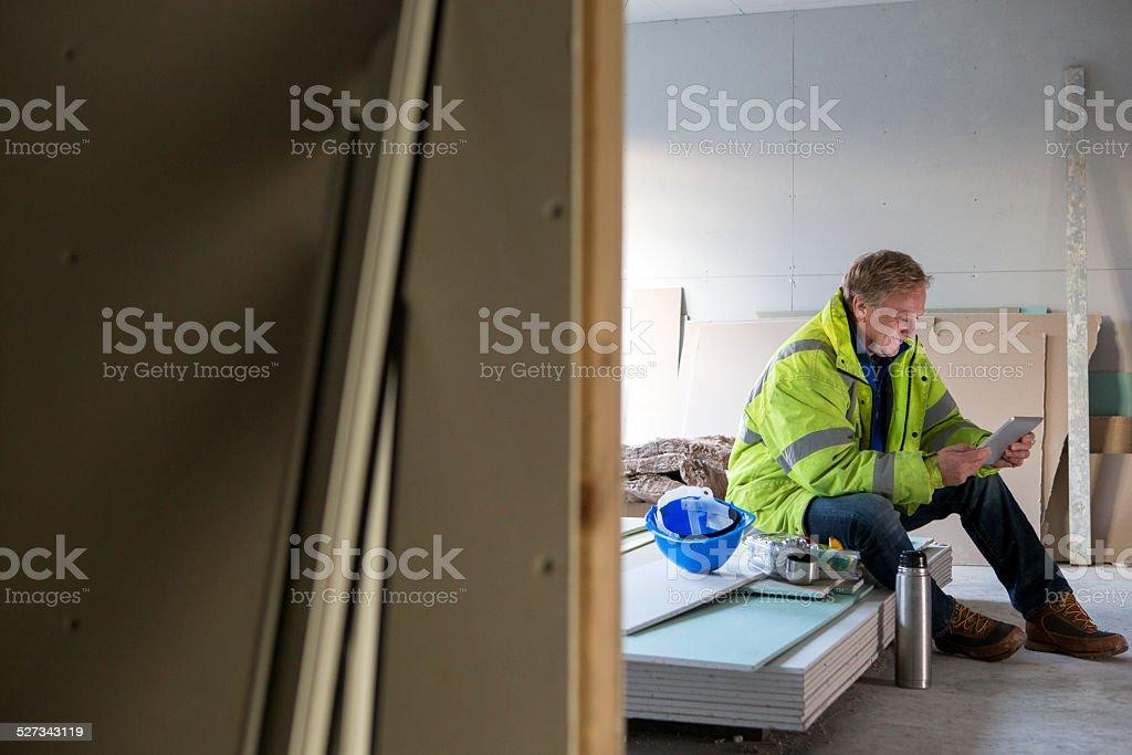 Bauarbeiter auf dem Abendessen Kurzurlaub – Foto