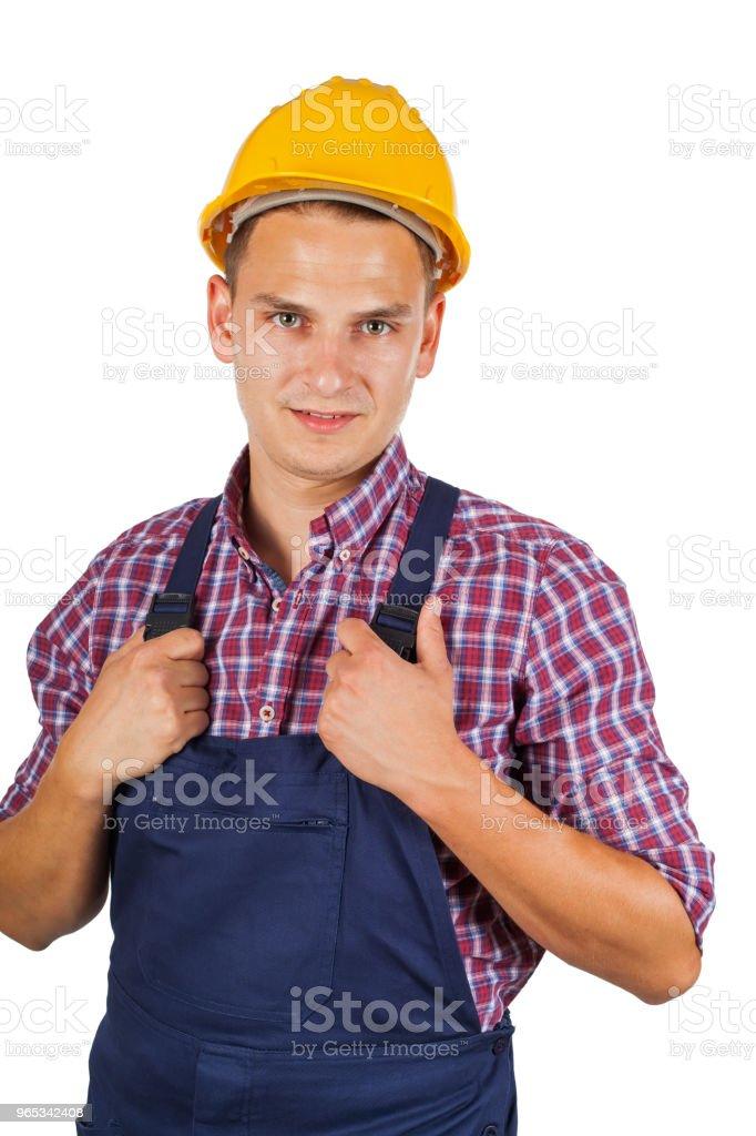 절연에 건설 노동자 - 로열티 프리 건설 산업 스톡 사진