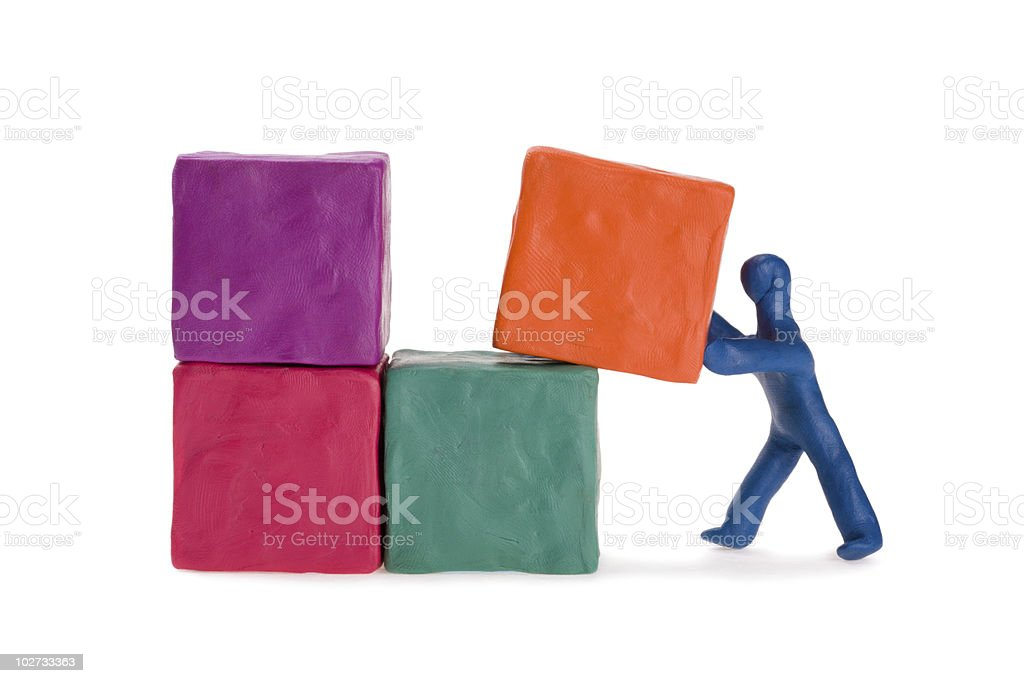 Construction worker on site stock photo