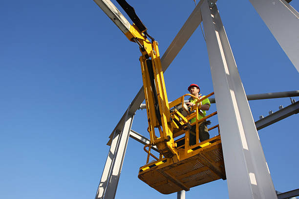 construction worker - high up stock pictures, royalty-free photos & images