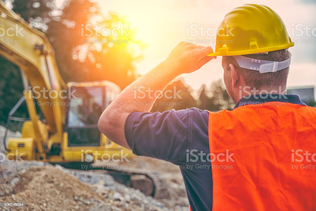 Construction Worker bildbanksfoto