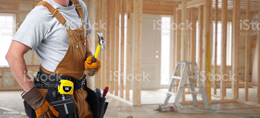 Строительный рабочий  стоковое фото