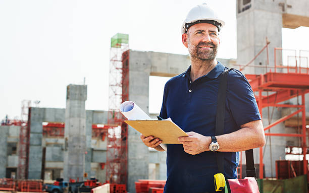 Construction Worker Planning Constractor Developer Concept​​​ foto