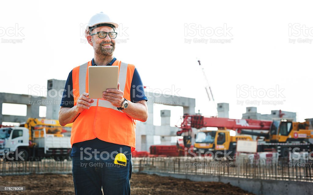 Construction Worker Planning Contractor Developer Concept ストックフォト