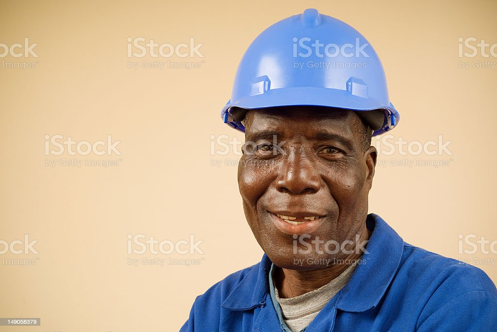 Construction Worker Portrait royalty-free stock photo