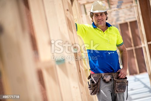 istock Construction Worker Portrait 495771718