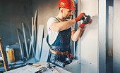 istock Construction worker routine. 638510970