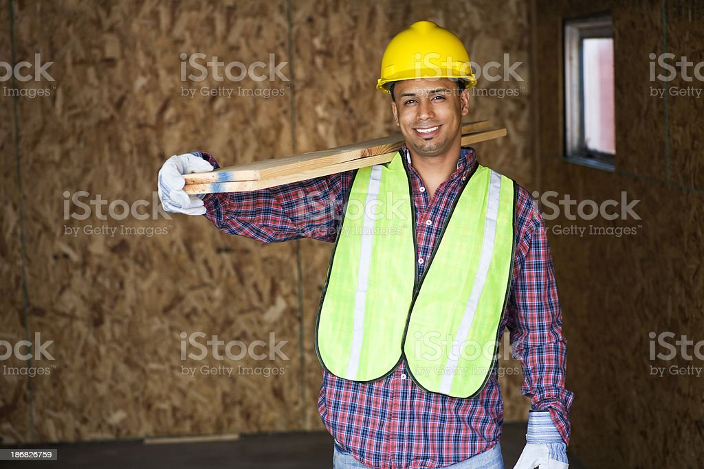 construction worker smiling royalty-free stock photo