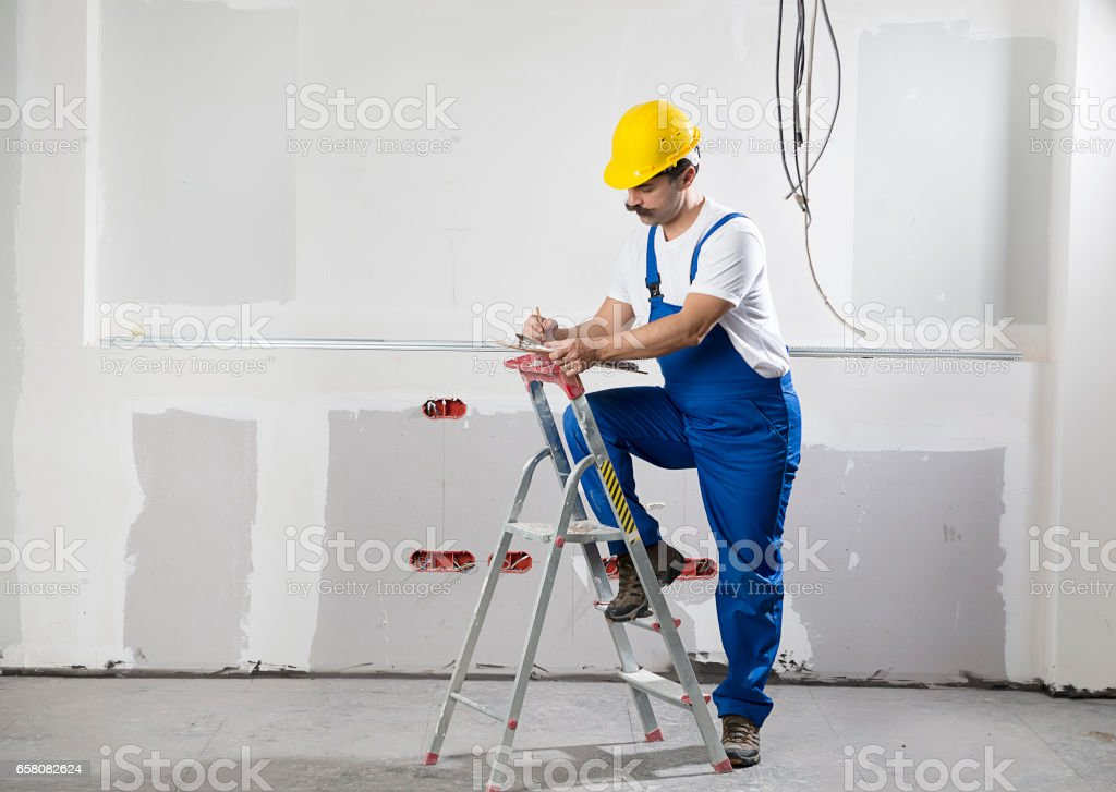 Construction Worker Taking Notes royalty-free stock photo