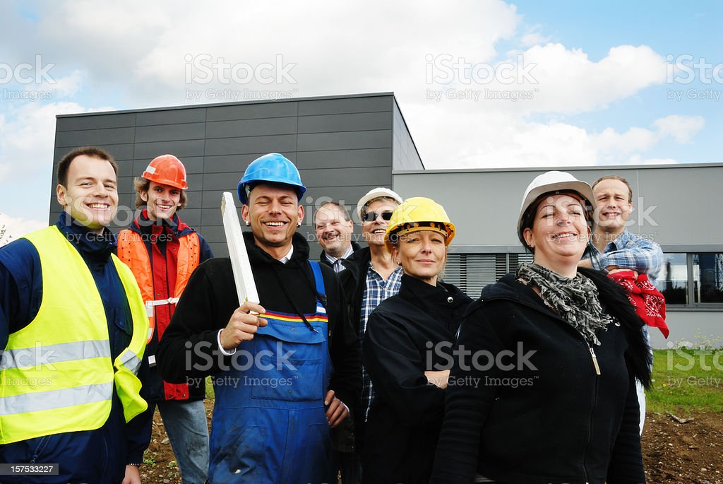 construction worker team royalty-free stock photo