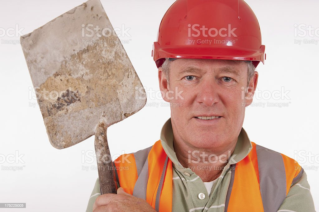 Construction Worker With Shovel royalty-free stock photo