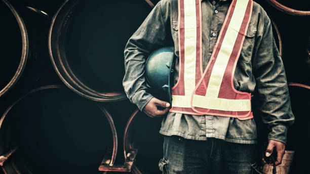 Construction worker working on a construction site – Foto