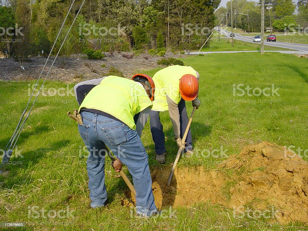 Construction Workers 1 royalty-free stock photo