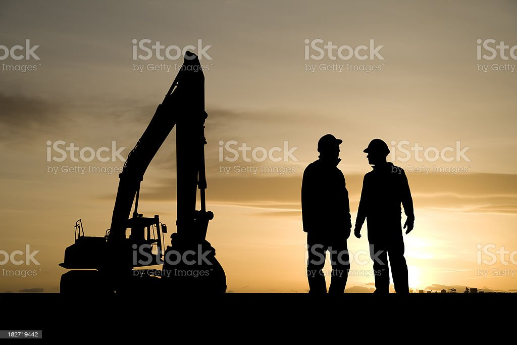 Construction Workers and Equipment royalty-free stock photo