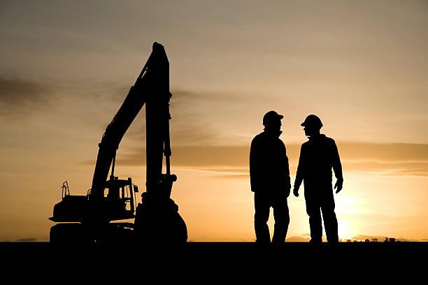 Bauarbeitern und Ausstattung – Foto