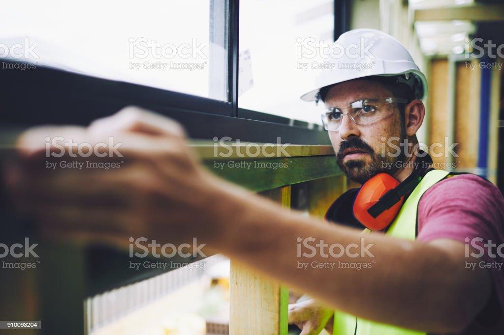 Bauarbeiter in australischen in Baustelle arbeiten und Aufgaben. – Foto