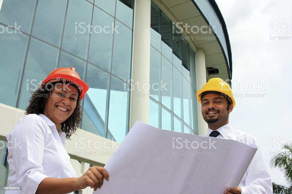 Construction workers on site royalty-free stock photo