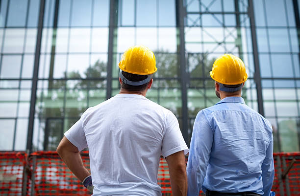 construction workers - civil engineer stock photos and pictures