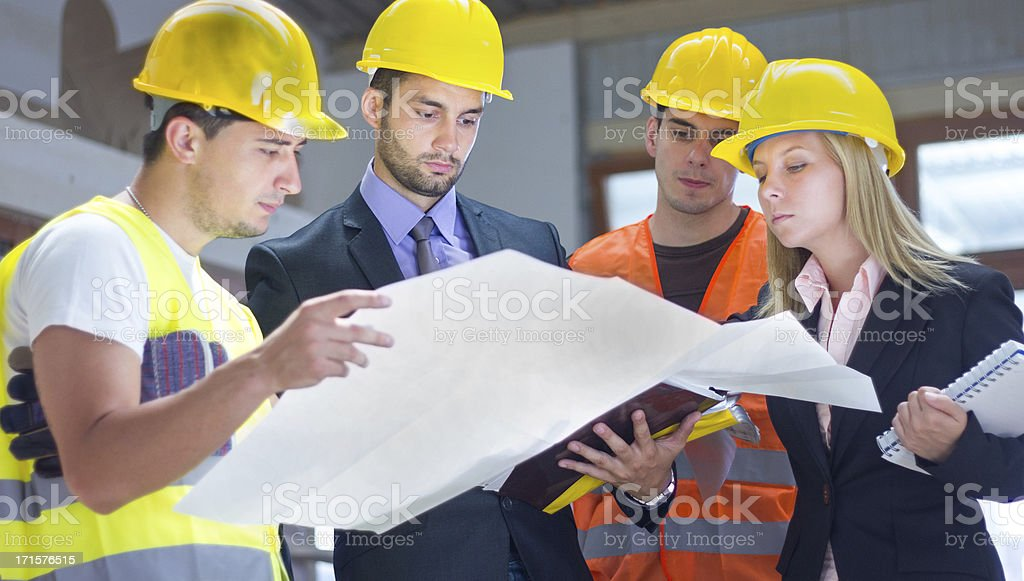Construction workers. royalty-free stock photo