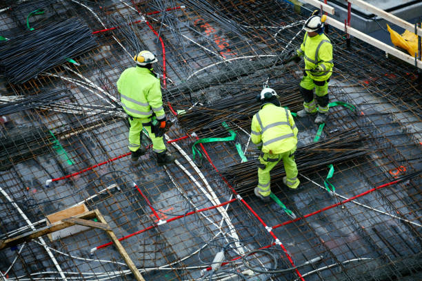construction workers - tamara dragovic stock photos and pictures