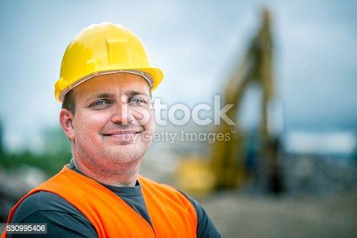 istock Construction Worker's Portrait 530995406