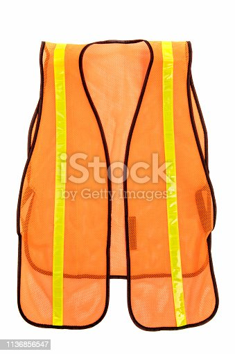 An isolated construction worker's vest.