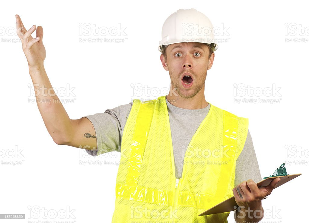 Construction Workers WTF Horizontal royalty-free stock photo