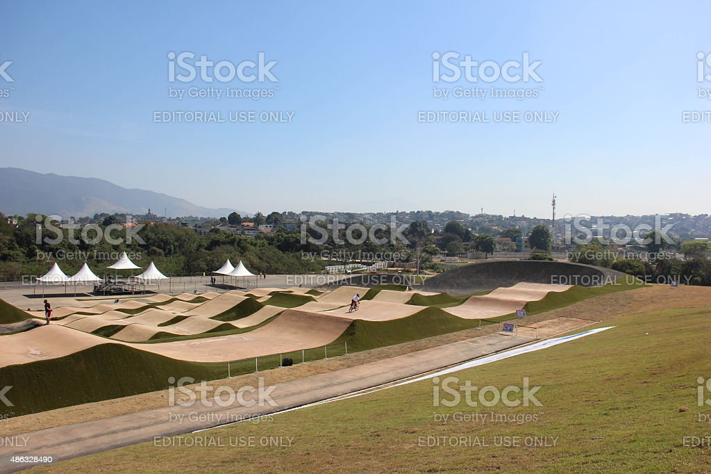 Construction works of Deodoro Sports Complex for Olympics Rio 2016 stock photo