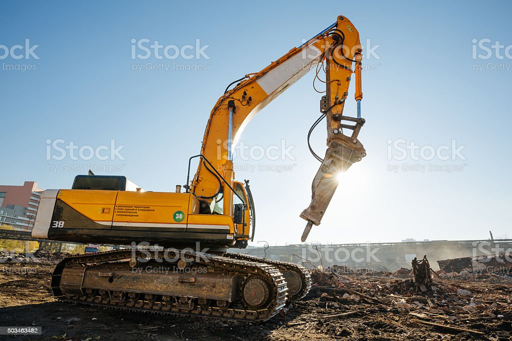 Construction works stock photo