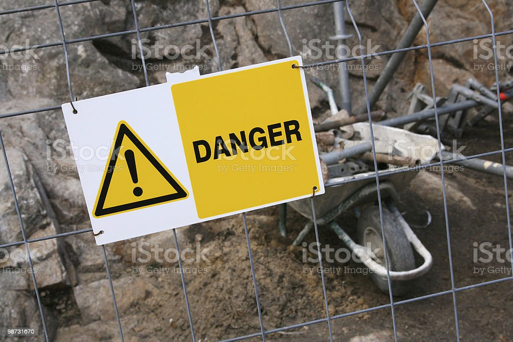 Construction Zone royalty free stockfoto