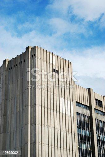 Huge concrete building skyscraper facade