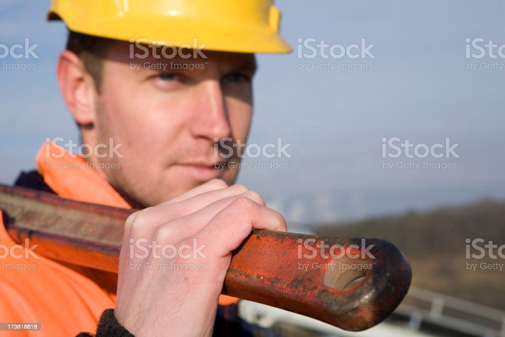 Constructionworker stock photo