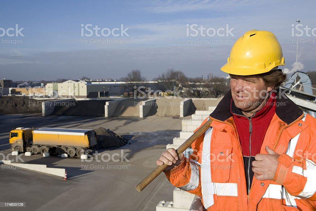 Constructionworker royalty-free stock photo