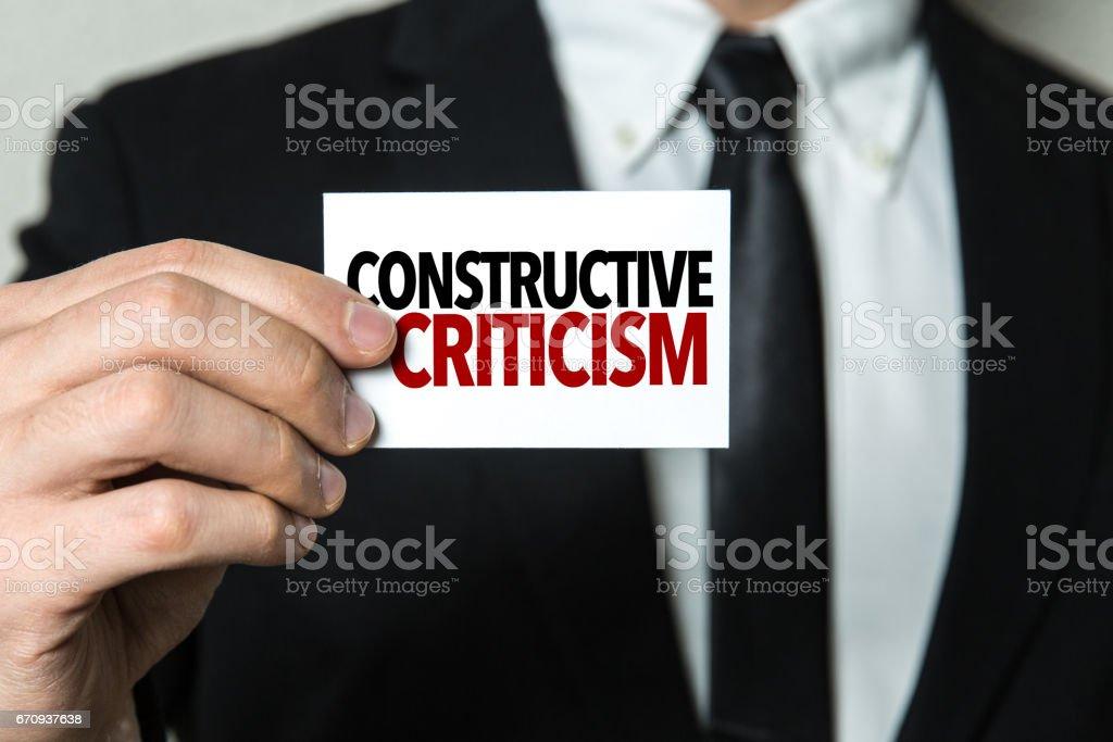 Constructive Criticism stock photo
