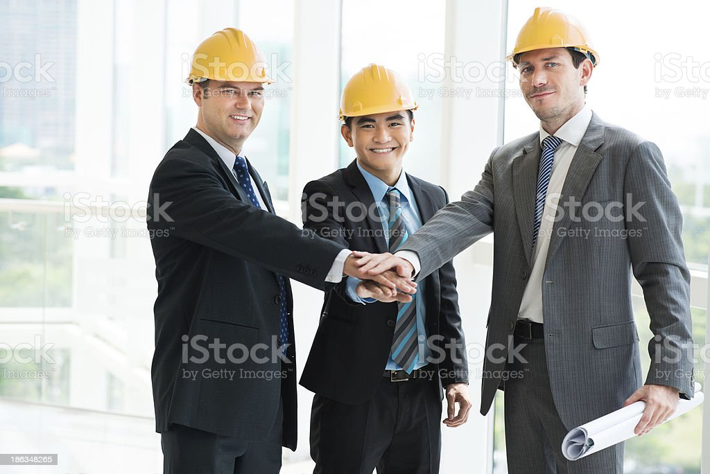 Constructor team royalty-free stock photo