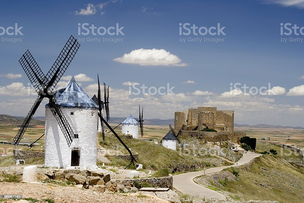 Consuegra, Castilla La Mancha stock photo