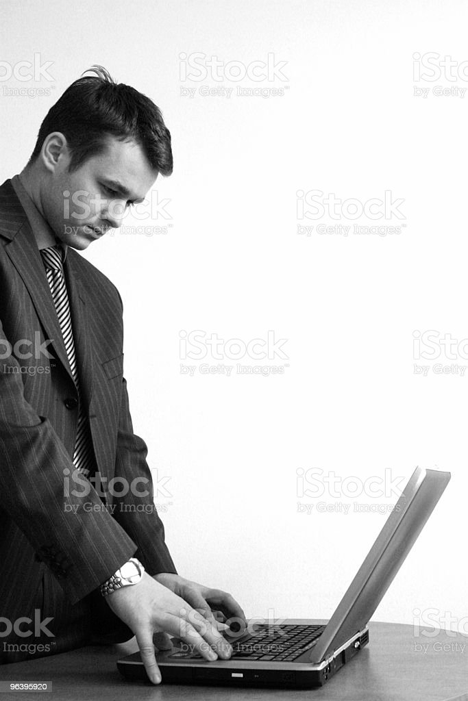consultant concentrated on laptop - Royalty-free Adult Stock Photo
